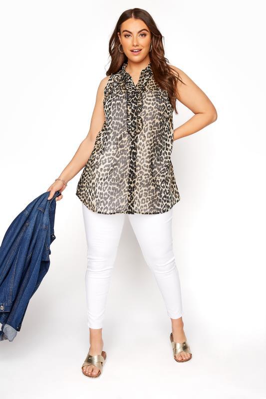 Leopard Print Frill Front Sleeveless Shirt_B.jpg