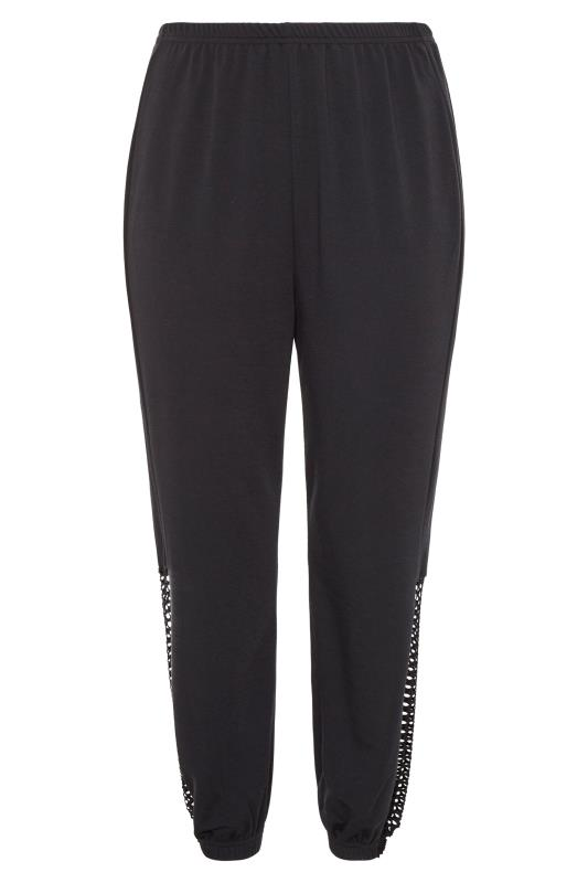LIMITED COLLECTION Black Fishnet Insert Joggers