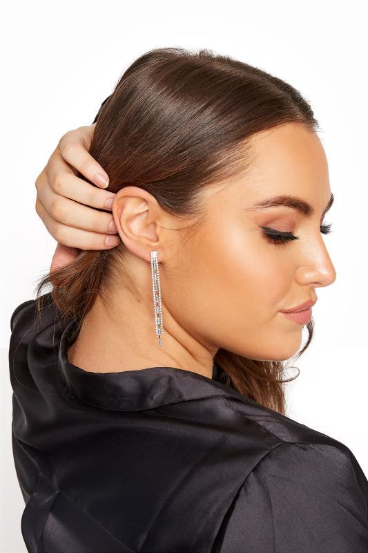 Yours Silver Mixed Stone Tassel Earrings