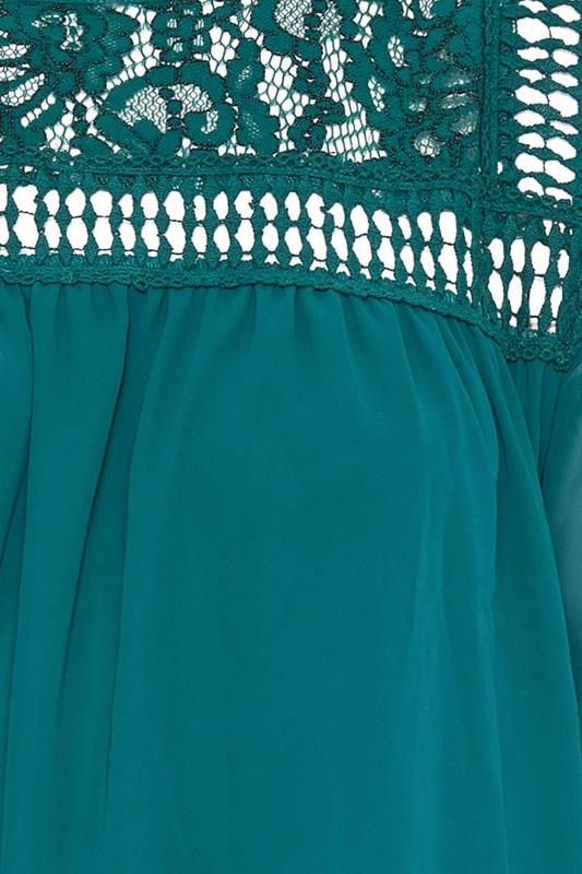 YOURS LONDON Teal Lace Blouse_s.jpg
