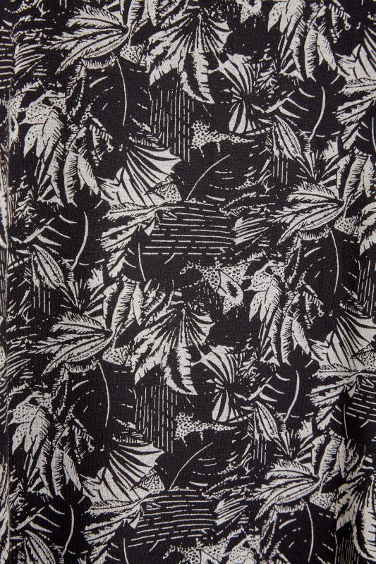 Black Leaf Print V-Neck Vest_S.jpg