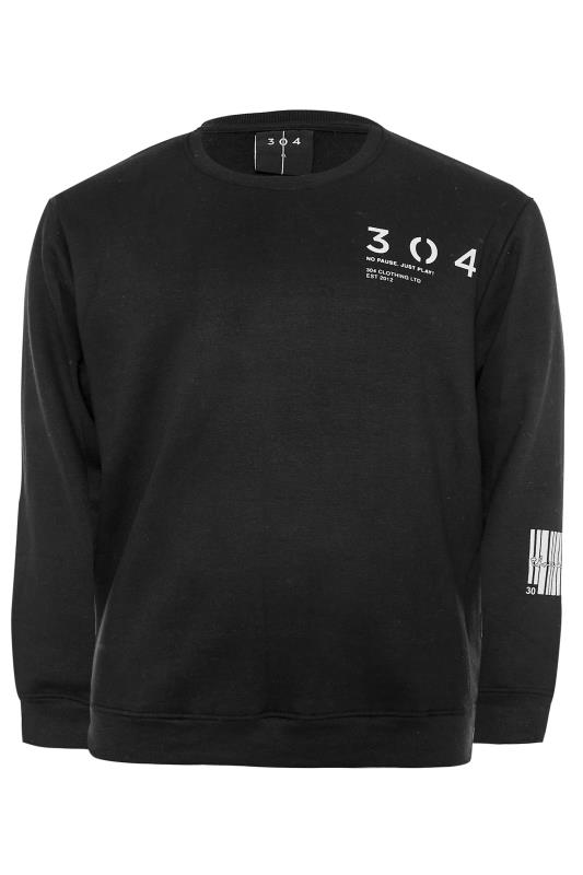 Grande Taille 304 CLOTHING Black Barcode Sweatshirt