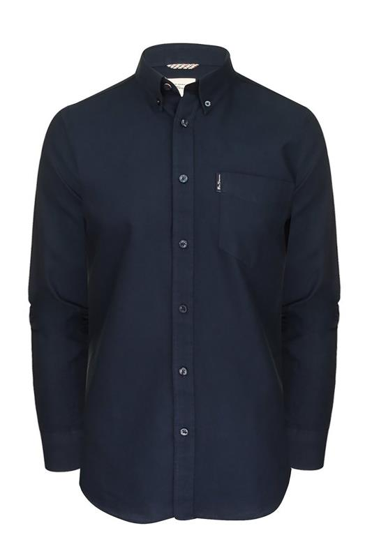 BEN SHERMAN Navy Signature Long Sleeve Oxford Shirt