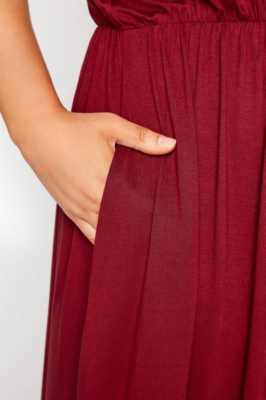 YOURS LONDON Wine Red Pocket Maxi Dress_D.jpg