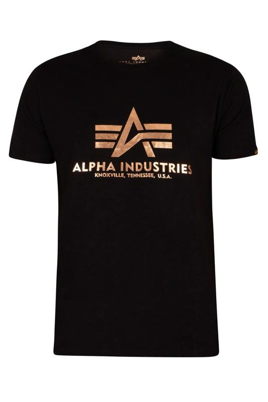 Plus Size  ALPHA INDUSTRIES Black Foil T-Shirt