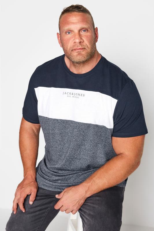 Men's  JACK & JONES Navy Monse T-Shirt
