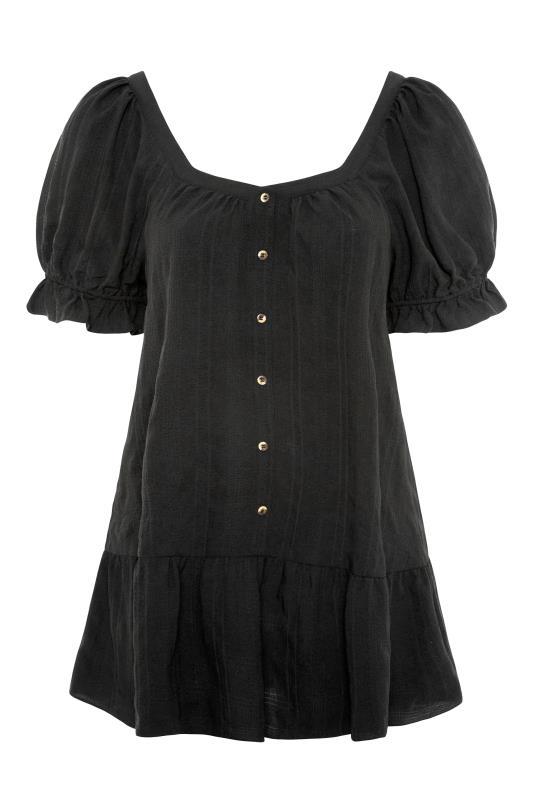 THE LIMITED EDIT Black Puff Sleeve Tunic_F.jpg