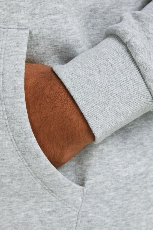 JACK & JONES Grey Logo Printed Hoodie_D1.jpg