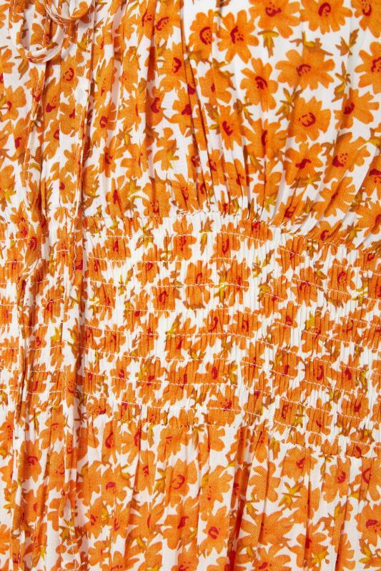 LTS Orange Tiered Shirred Maxi Dress_S.jpg