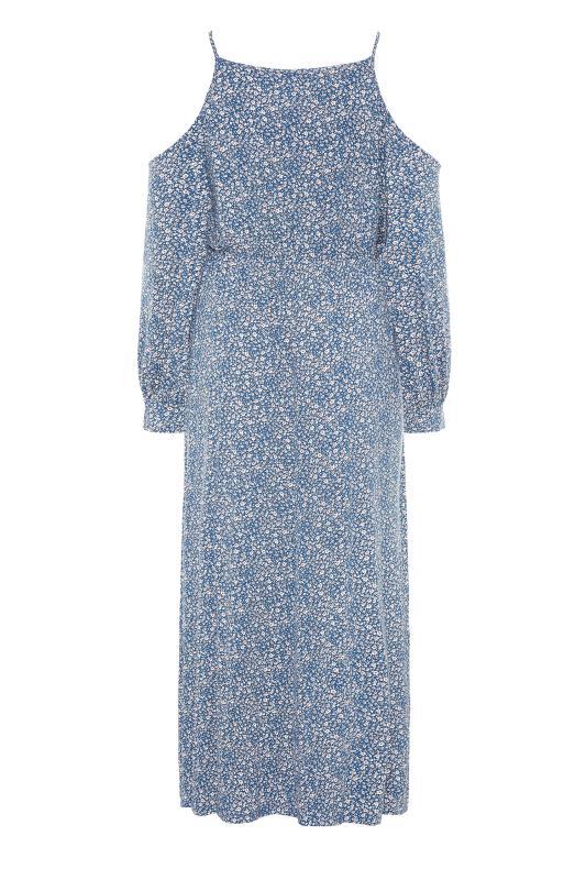 Blue Floral Cold Shoulder Maxi Dress_BK.jpg