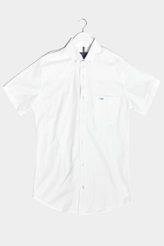 Men's  BadRhino White Cotton Poplin Short Sleeve Shirt