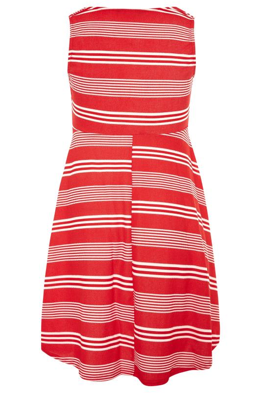 Red Stripe Wrap Skater Dress_BK.jpg