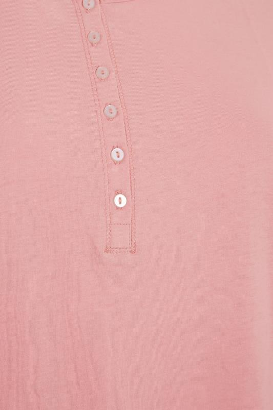 Pink Button Scoop Neck Pyjama Top_S.jpg