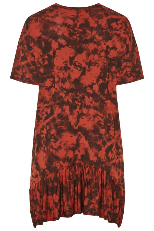 LIMITED COLLECTION Rust Tie Dye Hanky Hem Top