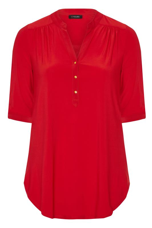 Red Slinky Jersey Shirt