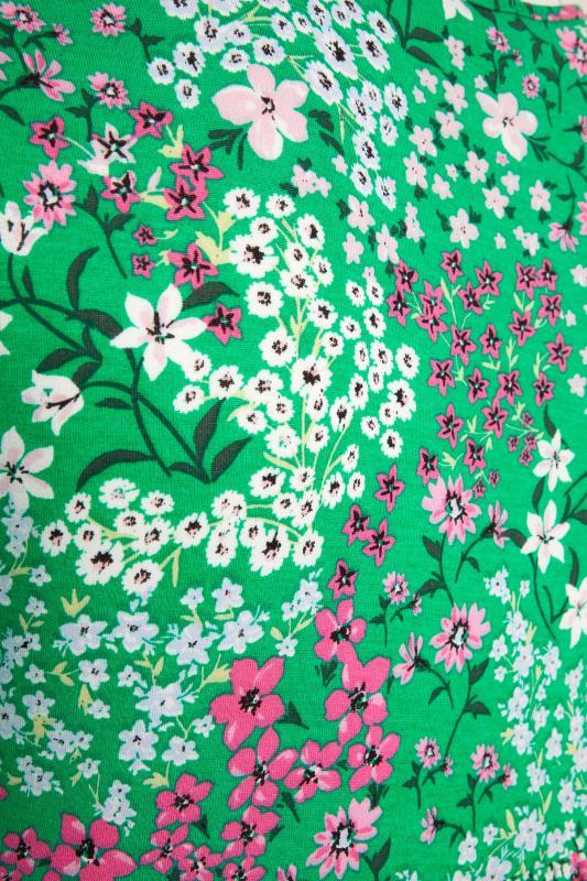 YOURS LONDON Green Floral Jersey Tea Dress_s.jpg