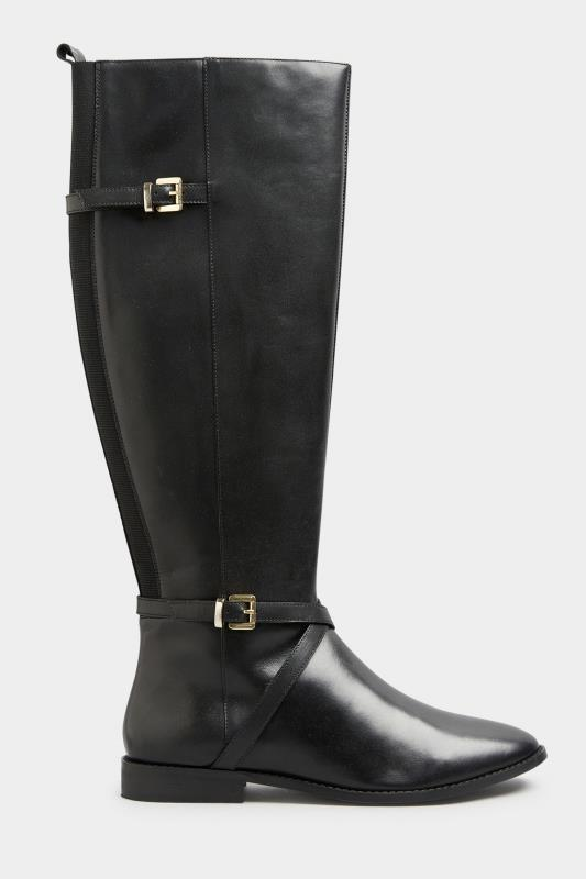 Tall  LTS Black Leather Riding Boots