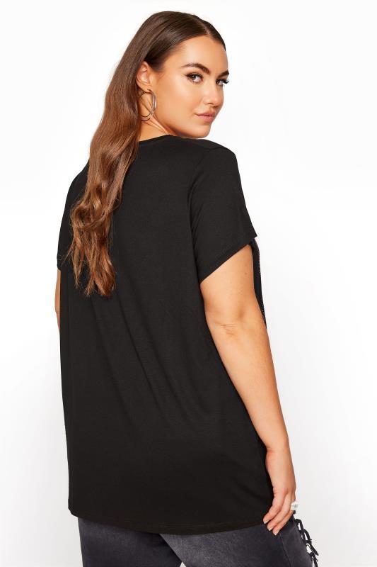 Black Short Sleeve 'Sunset' Slogan Printed T-Shirt_C.jpg