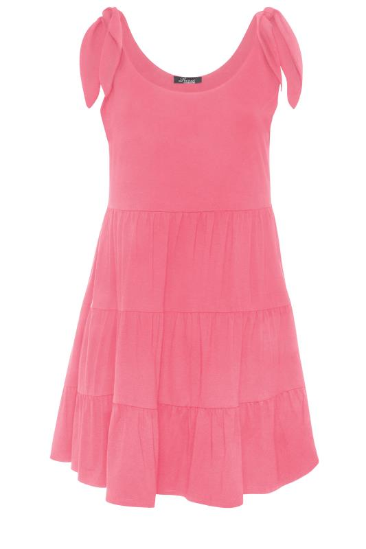 LIMITED COLLECTION Pink Tiered Jersey Dress_F.jpg