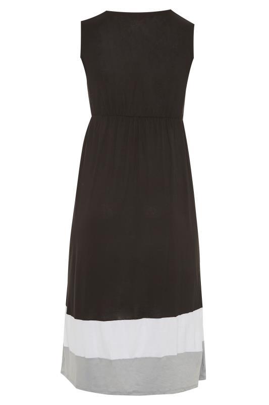 Black Colour Block Plunge Wrap Midaxi Dress_bk.jpg