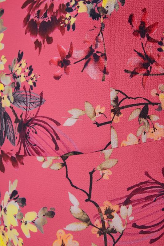 YOURS LONDON Pink Floral Oriental Dress_S.jpg