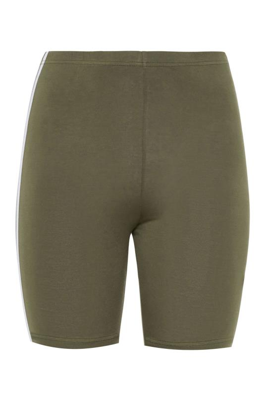 Khaki Side Stripe Cycle Shorts_BK.jpg