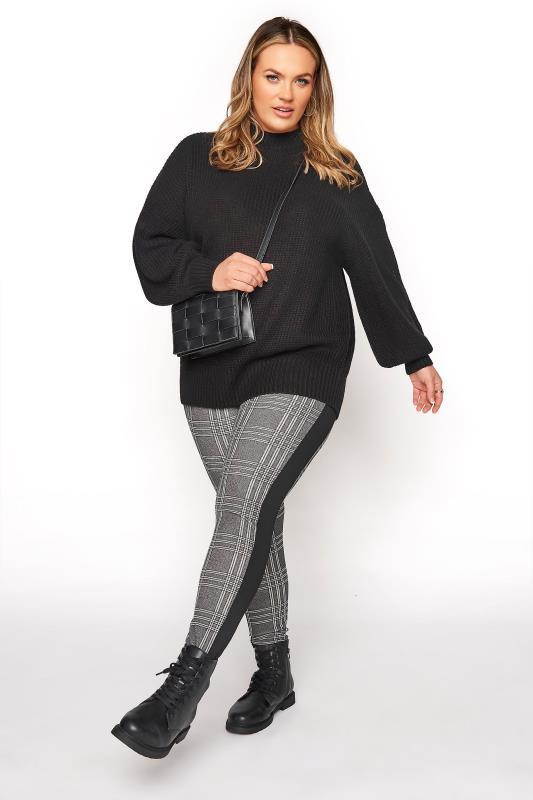 Black and White Side Stripe Scuba Trousers_A.jpg