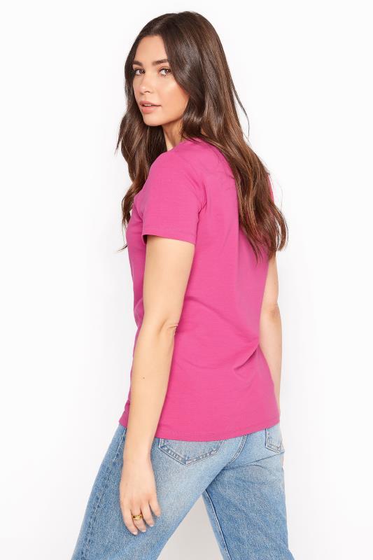 Pink Cotton Stretch V-Neck T-Shirt_C.jpg