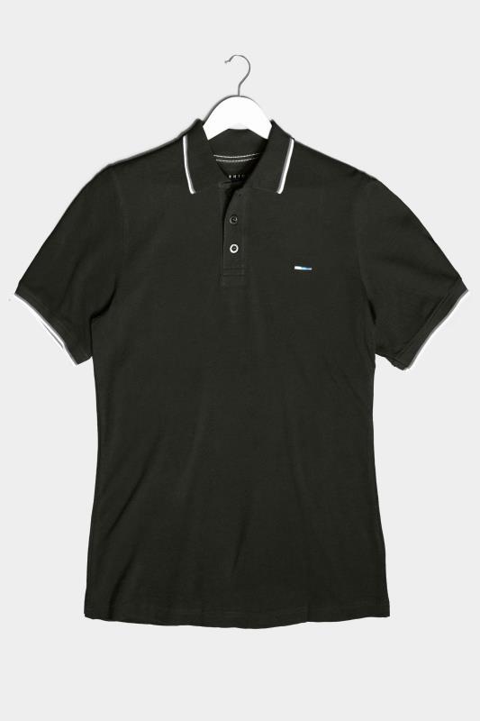 Men's  BadRhino Black Essential Tipped Polo Shirt