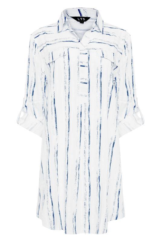 LTS White Dip Back Stripe Shirt_F.jpg
