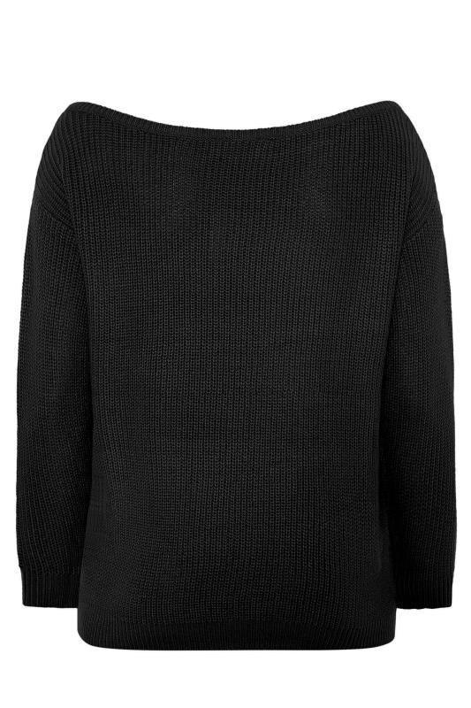 Black Bardot Knitted Jumper_BK.jpg
