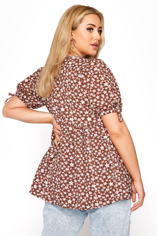 LIMITED COLLECTION Rust Floral Wrap Front Top_C.jpg