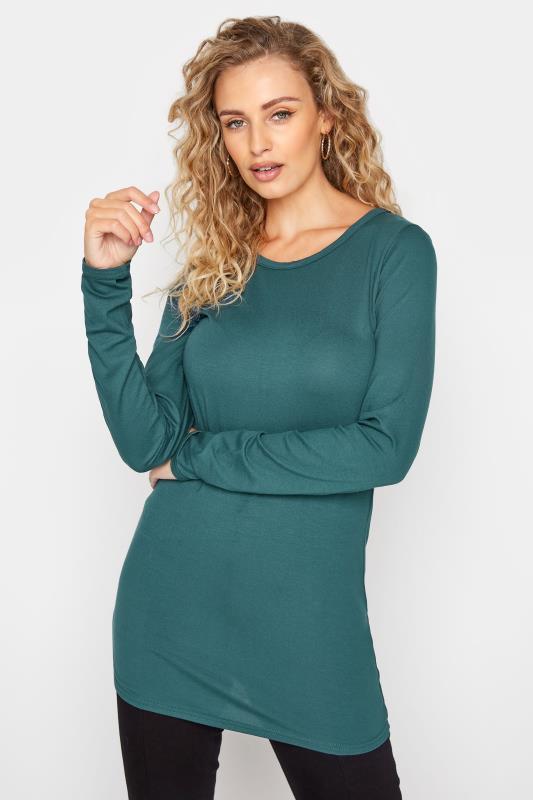 Tall  LTS Green Long Sleeve Top