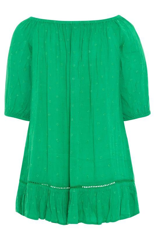 Green Bardot Dobby Top_BK.jpg