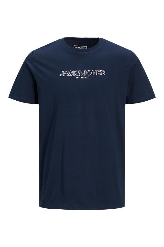 JACK & JONES Navy Bank T-Shirt_F.jpg