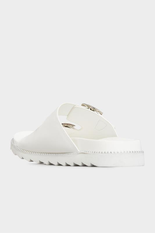 LIMITED COLLECTION White Stud Buckle Sandals In Extra Wide Fit_C.jpg