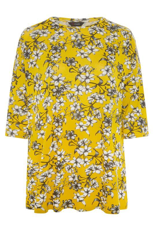 Yellow Floral Split Hem Tunic_F.jpg