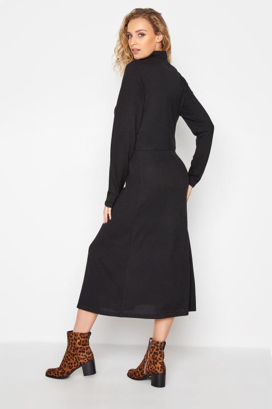 LTS Black Knitted Roll Neck A-Line Midi Dress_D.jpg