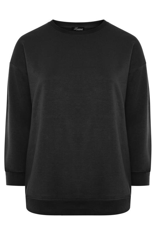 LIMITED COLLECTION Black Cotton Jersey Sweatshirt
