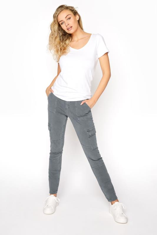 Tall Jeans SILVER JEANS Slate Grey Low Rise Skinny Cargo Jeans
