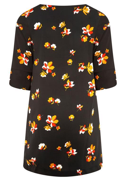 Black Floral V-Neck Shift Dress_BK.jpg