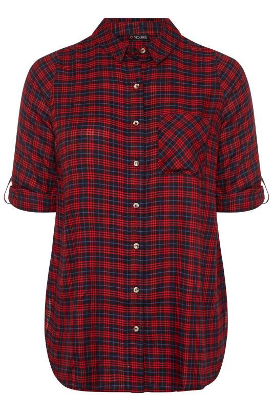 Red & Blue Check Boyfriend Shirt