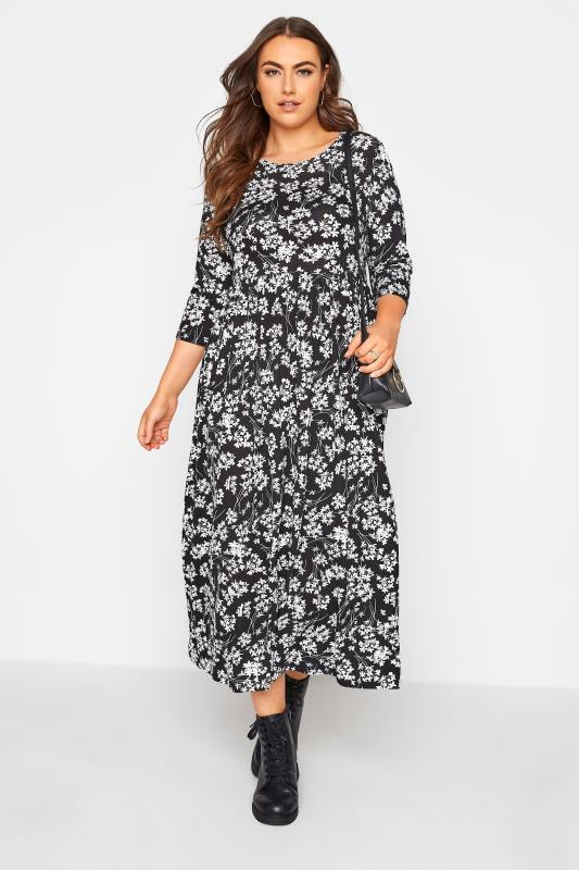 Black Floral Pocket Midaxi Dress_B.jpg