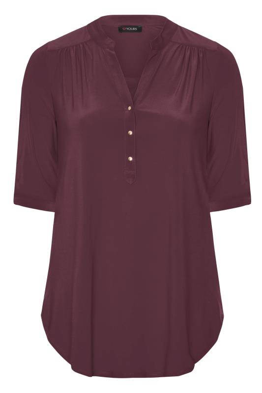 Burgundy Slinky Jersey Shirt
