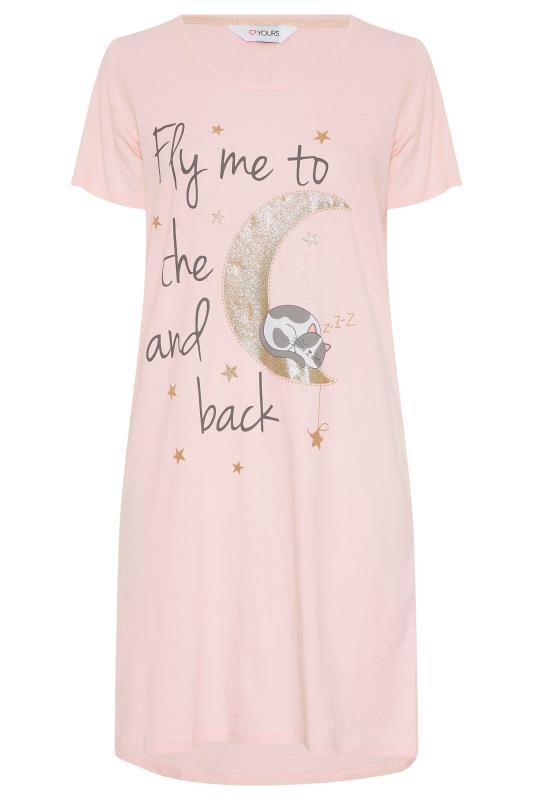Blush Pink 'Fly Me To The Moon' Dipped Hem Nightdress_F.jpg