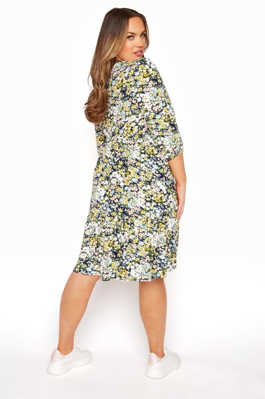 YOURS LONDON Multi Floral Print Tiered Dress_C.jpg