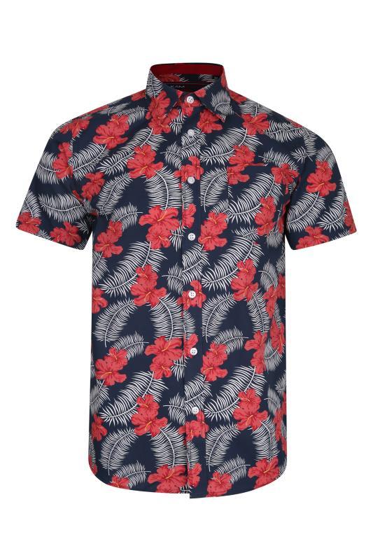 Men's  KAM Navy Floral Print Shirt