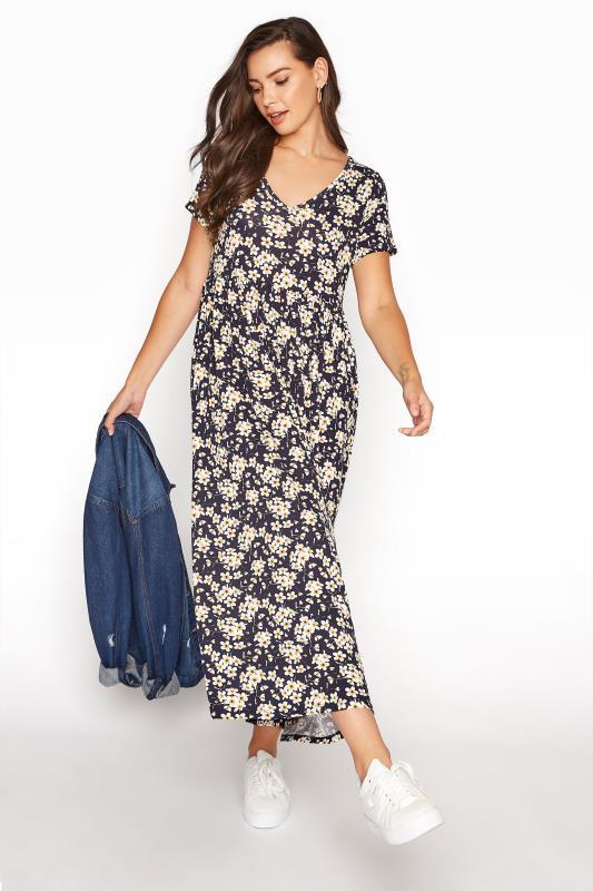 LTS Black Daisy Print Midi Dress_B.jpg