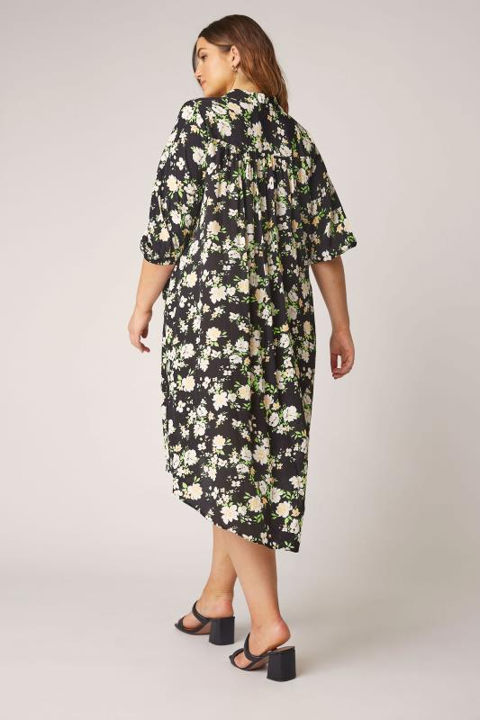 THE LIMITED EDIT Black Floral Pleated Dress_C.jpg
