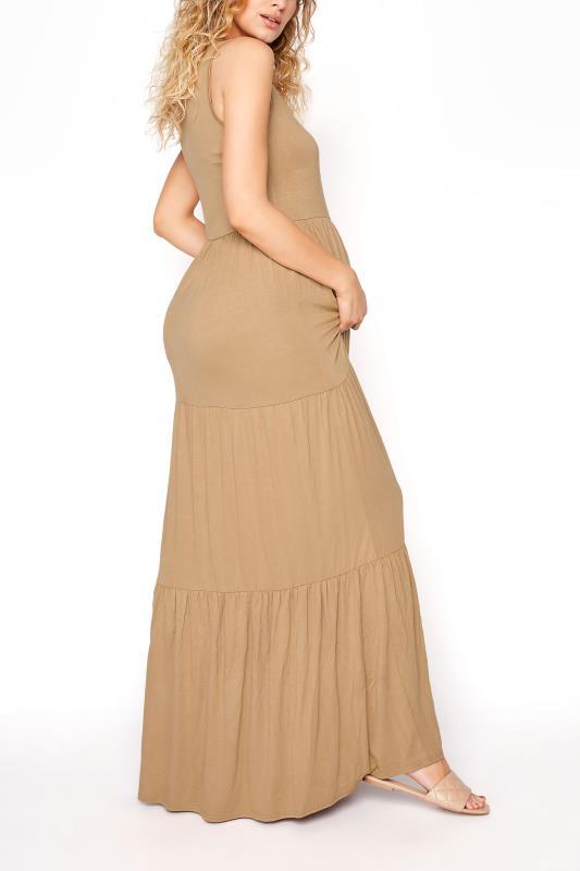 LTS Maternity Camel Tiered Maxi Dress_C.jpg